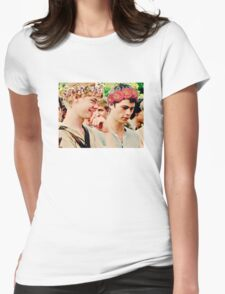 Newt and Thomas with Flowercrowns Womens Fitted T-Shirt
