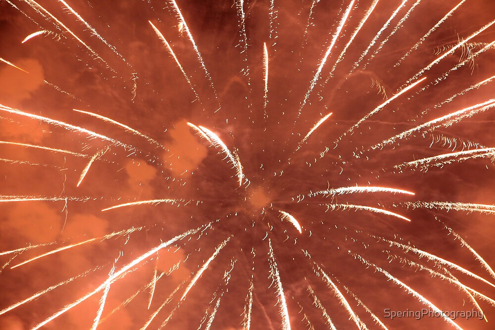 Orange fireworks by SperingPhotography