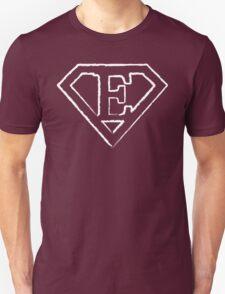 E letter in Superman style Unisex T-Shirt