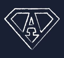 A letter in Superman style Kids Tee