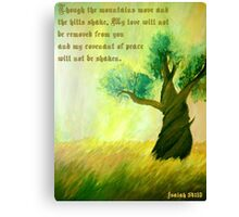 Words of Isaiah Canvas Print