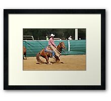 Cutting Competition Framed Print