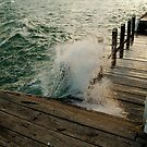 Choppy Seas,Queenscliff Pier by Joe Mortelliti