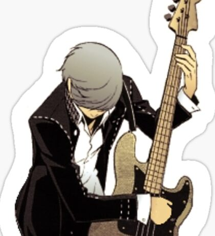Yu Narukami Bass Guitar Sticker