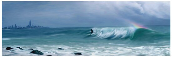 Lone Surf  by Cliff Vestergaard