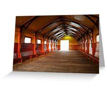 Queenscliff Pier  Greeting Card