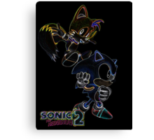 Classic Duo Sonic and Tails Glow design Canvas Print