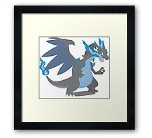 Charizard Mega Evolution - Pokemon X Framed Print