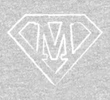 M letter in Superman style One Piece - Long Sleeve