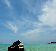 Lonely Boat by zoule