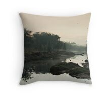 The Fog of Dawn Throw Pillow