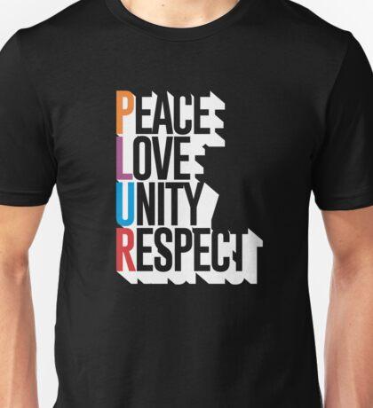 PLUR Peace Love Unity Respect  Unisex T-Shirt
