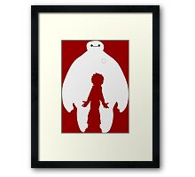 Baymax and Hiro Framed Print