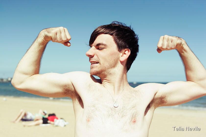 Richard on the Beach by Telia Nevile