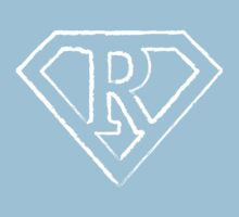 R letter in Superman style Baby Tee