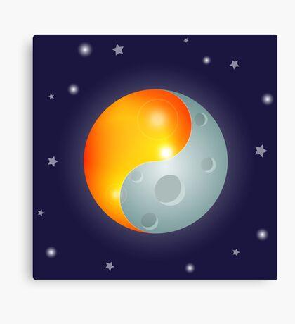 Yin Yang Sun and Moon Canvas Print