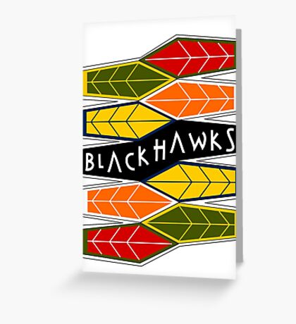 Deco: Dark Colours Greeting Card