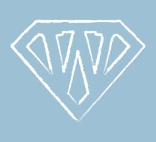 W letter in Superman style Kids Tee