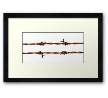 Rusty Barbed Wire Framed Print