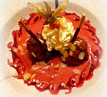 Mousse au Chocolate with Mulled Wine & Pearfoam by ©The Creative  Minds