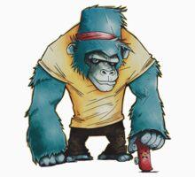 Gorilla go fast by BlancaJP