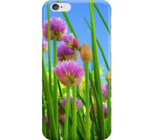 Nice chive flowers iPhone Case/Skin