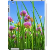 Chive flowers on a sunny day iPad Case/Skin