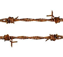 Rusty Barbed Wire by mrdoomits