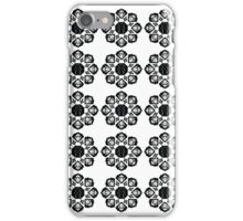 Black and White Abstract Beetle Print iPhone Case/Skin