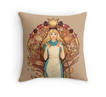Curious and Curiouser Throw Pillow