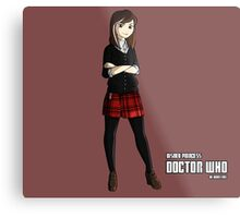 -Doctor who - Clara Oswald (vs Anna - Frozen) Metal Print