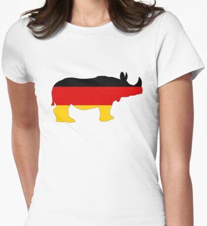 German Flag - Rhino Womens Fitted T-Shirt