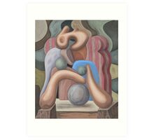 Woman in an Armchair Art Print