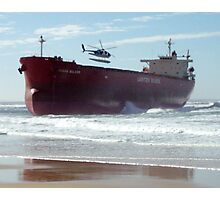 One Stranded Coal Ship Photographic Print