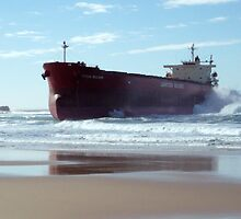 Pasha Bulker at Nobby's Beach - Newcastle by Paul Lamble