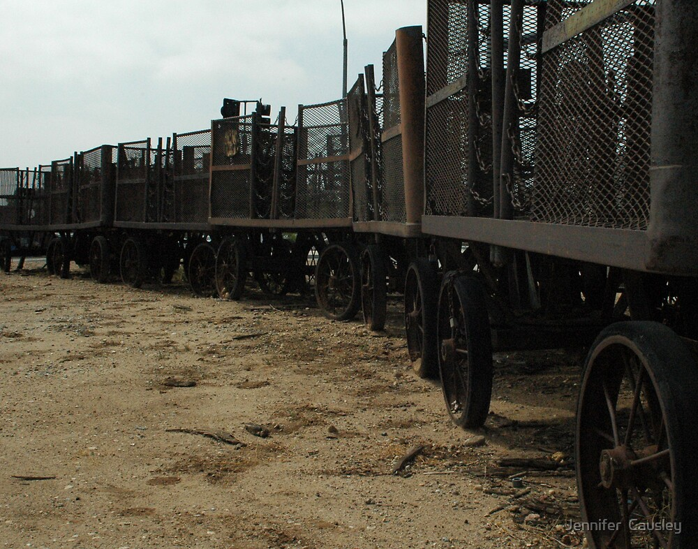 Old Train Cars by Jennifer  Causley
