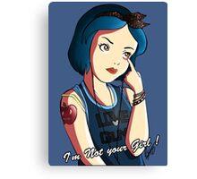 Snow White - Grimace  Canvas Print