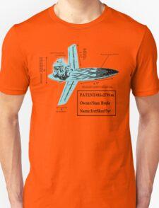Stan Brule Flying Surfboard Blueprints Design by SmashBam Unisex T-Shirt