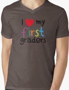 I Heart My First Graders Teacher Love Mens V-Neck T-Shirt