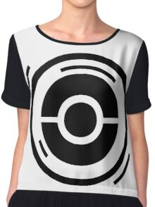 POKÉSTOP HERE  - Black and White Chiffon Top