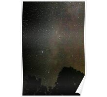 Milky way over Valley of the Rouge Poster