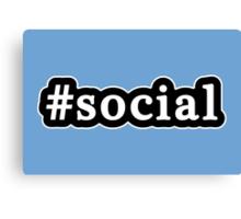 Social - Hashtag - Black & White Canvas Print