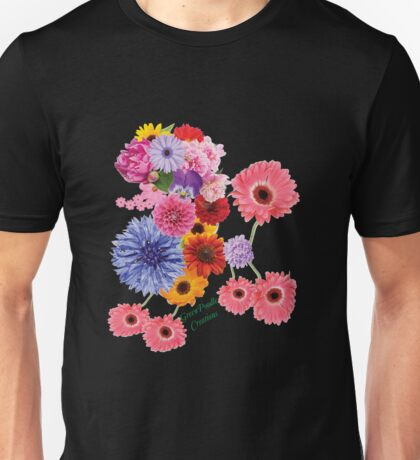Poodle Flower Child from Green Poodle Creations Unisex T-Shirt