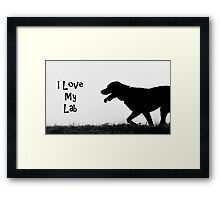 I Love my Lab Framed Print