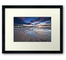 Semaphore Sunset Framed Print