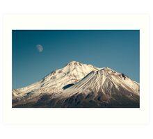 Moon over Shasta Art Print