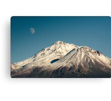 Moon over Shasta Canvas Print