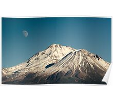 Moon over Shasta Poster