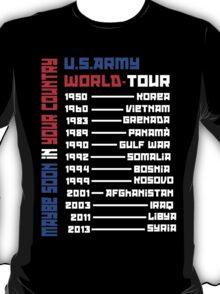 U.S.Army World Tour (BLACK!)  T-Shirt
