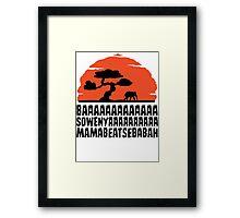 BAAAAAAAAAAAAA SOWENYAAAAAAAAAA MAMABEATSEBABAH T Shirt Framed Print